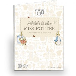 An image of the 2016 Beatrix Potter 50p coin collector album.