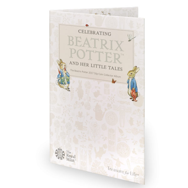 Image of exterior Beatrix Potter 2017 50p coin collector album.