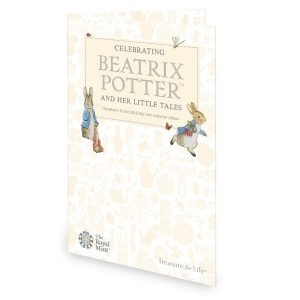 Image of exterior of Beatrix Potter 2018 50p coin collector album