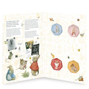 Image of interior of Beatrix Potter 2018 50p coin collector album