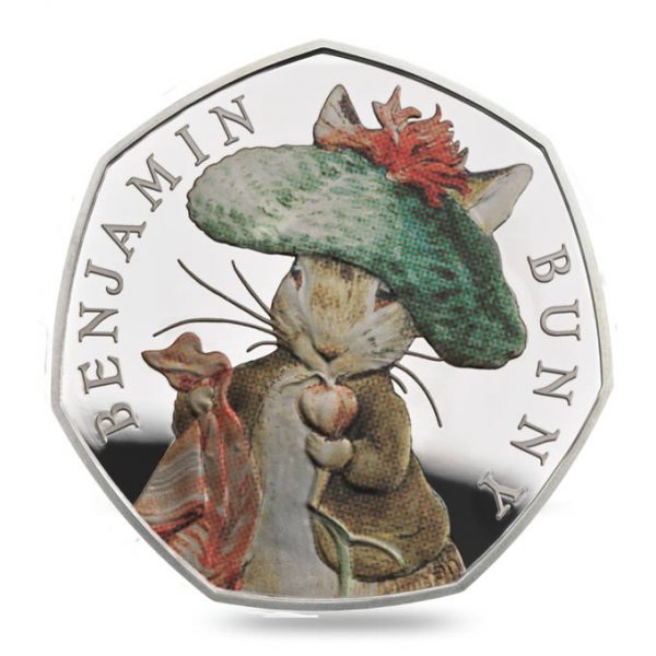 Image of Benjamin Bunny 2017 UK 50p silver proof coin