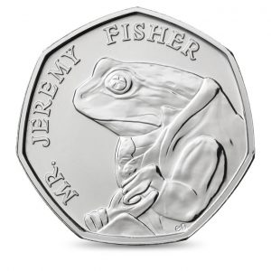 Image of Jeremy Fisher 2017 UK 50p coin