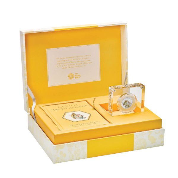 Image of coin and book gift set for Mrs Tittlemouse coin