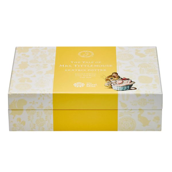Image of closed gift box for Mrs Tittlemouse coin