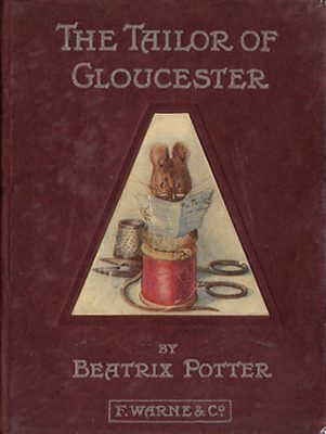 Cover of the First Edition of the Tailor of Gloucester