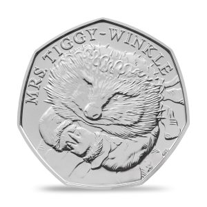 Image of Mrs. Tiggy Winkle 2016 50p coin in Brilliant Uncirculated finish