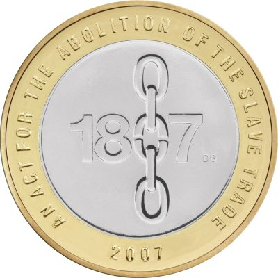 Image of 1807 Slave Trade 2007 UK 2 pound coin