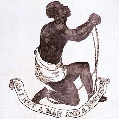 """Am I Not a Man and a Brother?"" medallion created as part of anti-slavery campaign by Josiah Wedgwood, 1787"