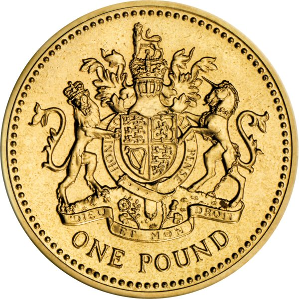 Image of 1983 Royal Arm UK 1 pound coin