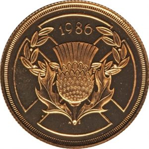 Image of 1986 Commonwealth UK 2 pound gold coin