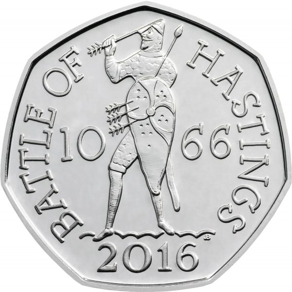 Image of Battle of Hastings 2016 UK 50p coin