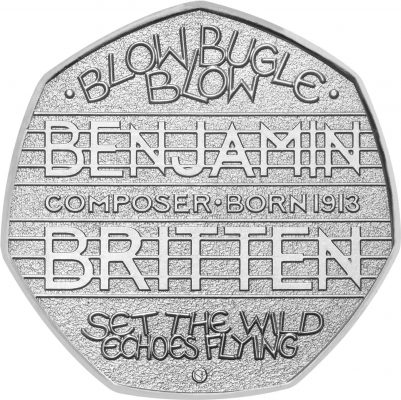 Image of Benjamin Britten 2013 UK 50p coin