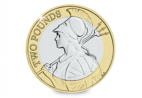 Image of Britannia 2015 UK 2 pound coin