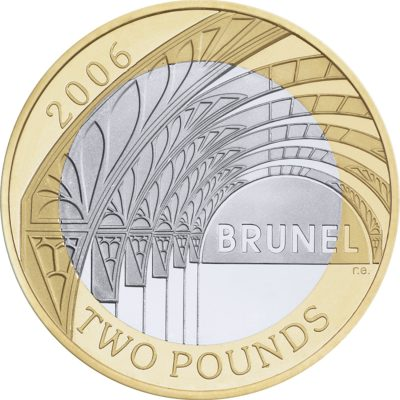 Image of Brunel 2006 UK 2 pound coin