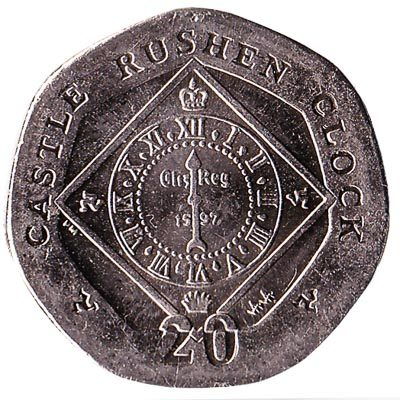Image of Castle Rushen Clock 2004 Isle of Man 50p coin
