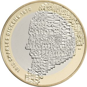 Image of Charles Dickens 2012 UK 2 pound coin
