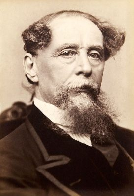 Black and White Photo of Charles Dickens