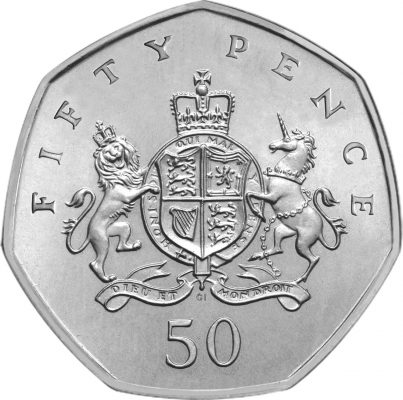 Image of Christopher Ironside 2013 UK 50p coin