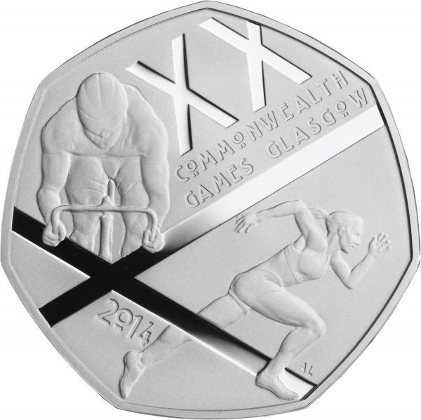 Image of Commonwealth Games 2014 UK 50p coin