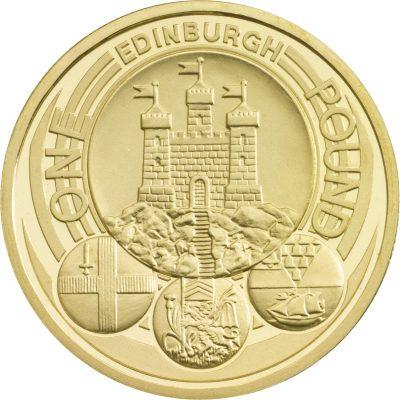Image of Edinburgh 2011 UK 1 pound coin