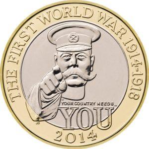 Image of First World War 2014 UK 2 Pound coin