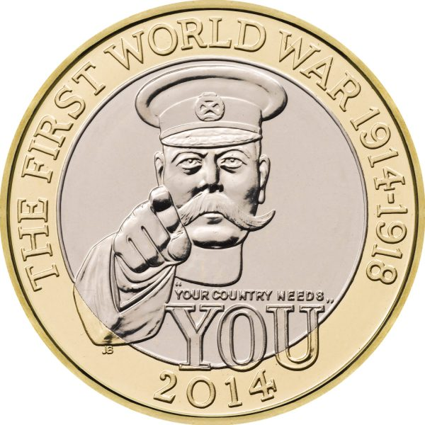 Image of First World War 2014 UK 2 Pound coin