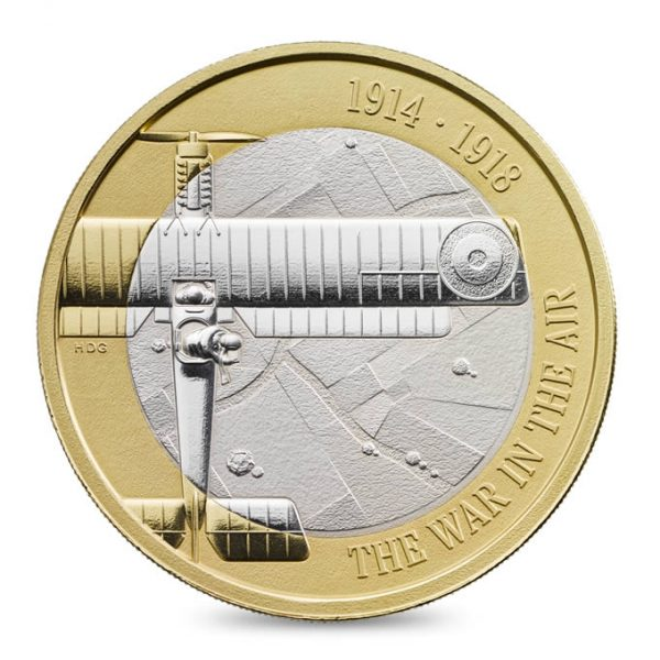 Image of First World War Aviation 2017 2 pound Silver Piedfort coin