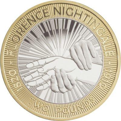 Image of Florence Nightingale 2010 UK 2 pound coin