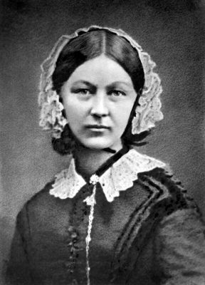 Black and White Florence Nightingale Portrait by Henry Hering