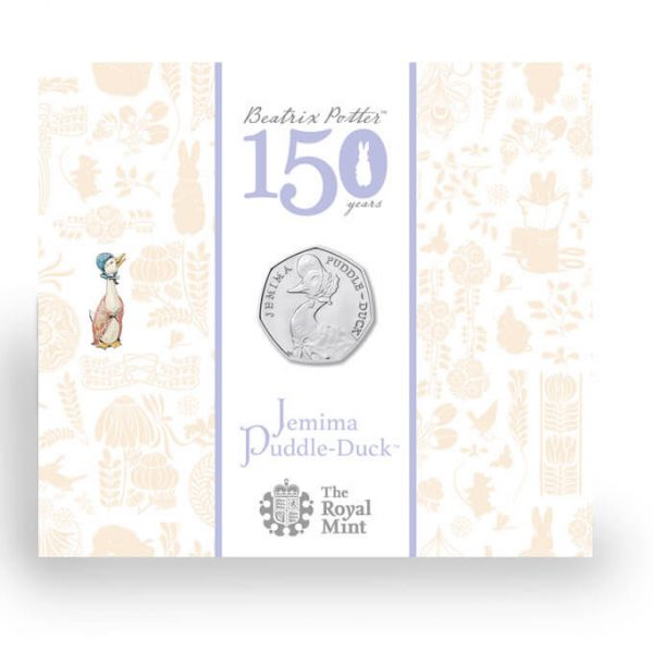 Image of cover of case for Jemima Puddle-Duck 2016 50p coin