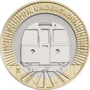 Image of London Underground 2013 UK 2 pound coin