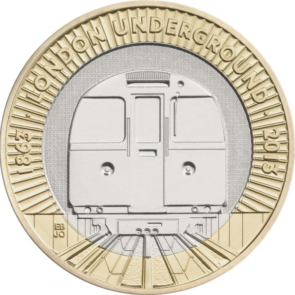 Image of London Underground 2013 UK 2 pound coin