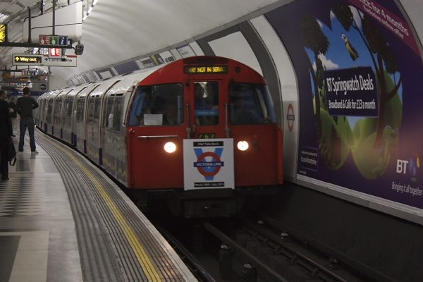 Photo of Victoria Line tube stock