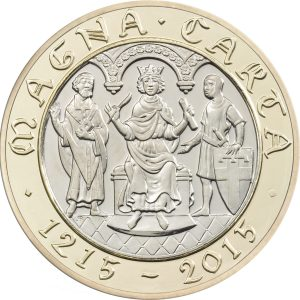 Image of Magna Carta 2015 UK 2 pound coin