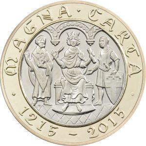 Image of Magna Carta 2015 UK 2 pound coin