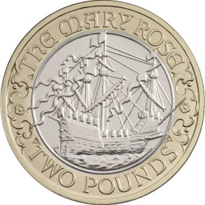 Image of Mary Rose 2011 UK 2 pound coins