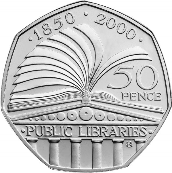 Image of Public Libraries 2000 UK 50p coin