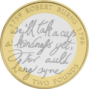 Image of Robert Burns 2009 2 pound coin