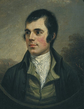 Portrait of Robert Burns by Alexander Nasmyth