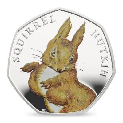 Image of reverse side of Squirrel Nutkin 2016 UK 50p Silver Proof coin