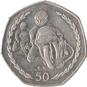 Image of TT Motorcycle Race 2007 Isle of Man 50p coin