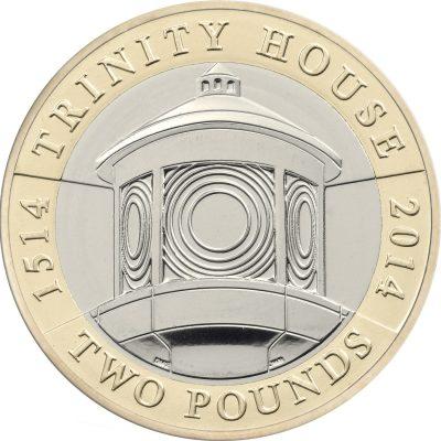 Image of Trinity House 2014 UK 2 pound coin