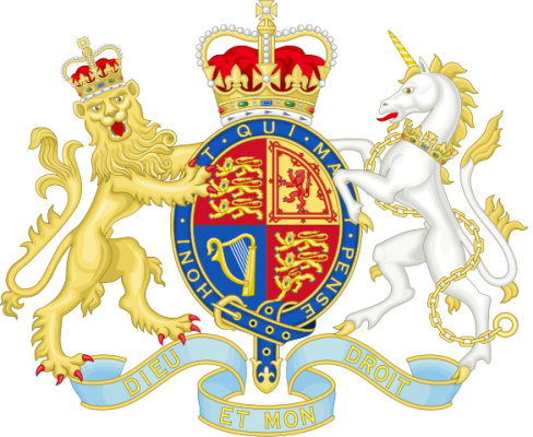 UK Royal Coat of Arms Illustration