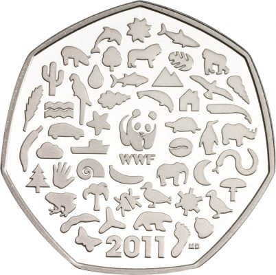 Image of WWF 2011 UK 50p coin