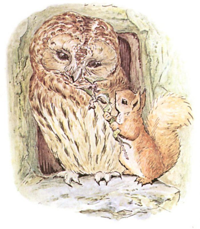 Illustration of Squirrel Nutkin