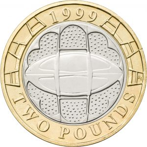 Image of 1999 Rugby World Cup 2 pound coin