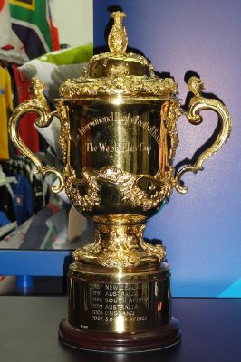 Webb Ellis Cup, the trophy awarded to the winner of the Rugby World Cup