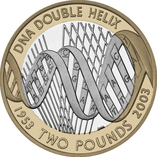 Image of DNA 2 pound coin