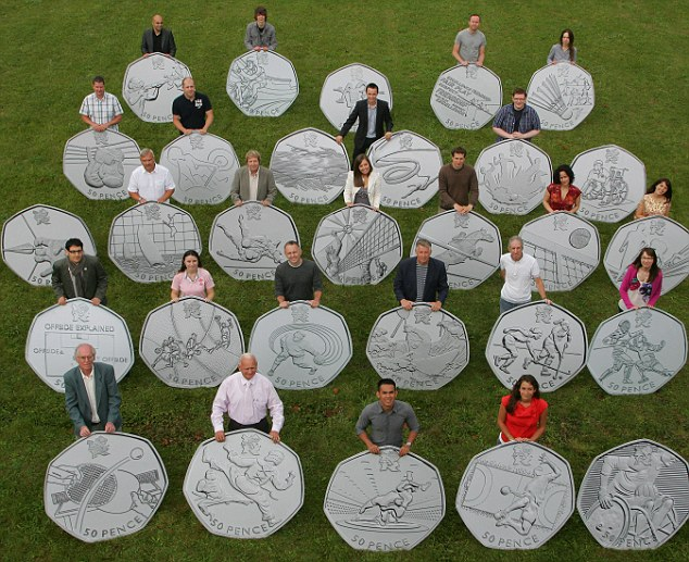 Designers of the 2012 Olympic Coins by Geoff Caddick/PA