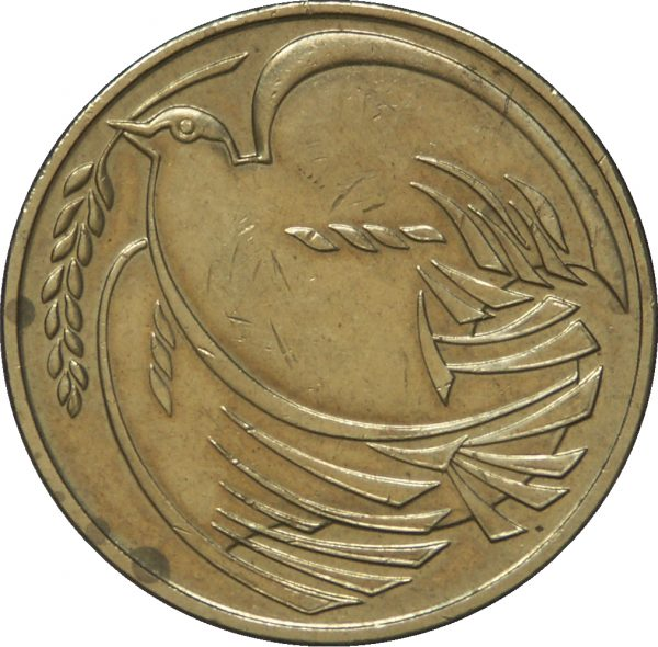 Image of Dove of Peace 2 pound coin